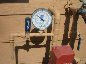 My new sprinkler water gauge