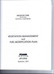 Vegetation Management and Fuel Modification Plan Cover Page