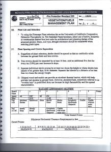 Novato Fire Protection Standard 220  Vegetation/Fuels Management Plan (cont'd) page 21