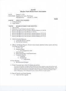 Board Meeting Agenda 012715